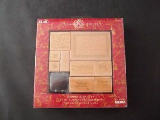 ANNA GRIFFIN Christmas Tags Rubber Stamp Set NEW Card Making Holiday