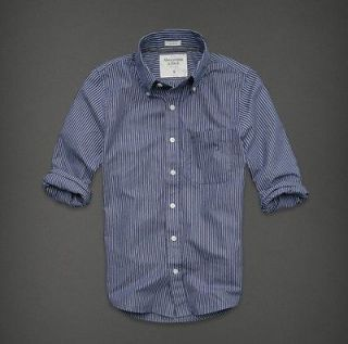 NEW 2012 Abercrombie &Fitch Mens Long Sleeve Button Down**SIZE S
