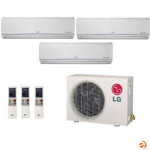 LG Ductless Mini Split Tri Zone Heat Pump 30,000 BTU 21.7 Seer system