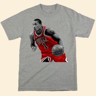 chicago bulls derrick rose t shirt d.rose mvp tshirt basketball shirt