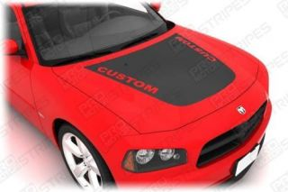 Dodge Charger Hood Graphics Stripe Decal Kit 2006 2010