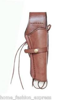 HOLSTER GUN REVOLVER WESTERN COWBOY CHOCOLATE RIGHT HANDED SMOOTH