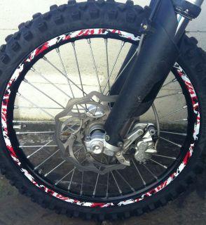 HONDA CRF CR rim wheel graphic decals stickers to 85 125 250 450 camo