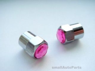 Crystal/PINK/Diamond Tire/Wheel Stem VALVE CAPS for Motorcycle