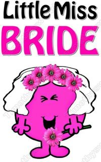 Little Miss Bride Shirt Iron on Transfer #1