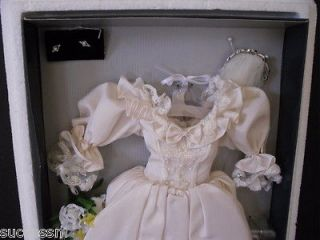 DIANA WEDDING GOWN ENSEMBLE Franklin Mint for 16 Doll NIB COA