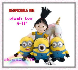 Despicable me minion plush toys 6 9 /New with tags 8 style/Good