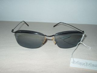 Max Mara black metal frame gray lenses sunglasses glasses 170/S new