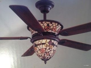 NEW 52 Hampton Bay Victorian Rose Ceiling Fan by Dale Tiffany with