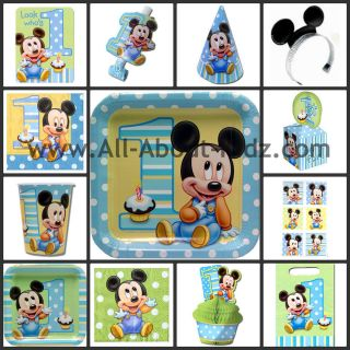 Disney Baby MICKEY MOUSE 1st First Birthday PARTY SUPPLIES   Make Your