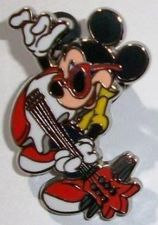 Disney Pin Mickey Mouse Professions   Dressed as Guitar Playing Rock