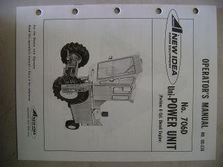 UNI SYSTEM POWER UNIT OPERATORS MANUAL W/ PERKINS DIESEL 6C ENGINE