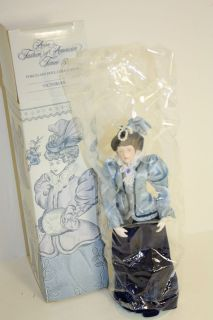 Fashion of American Times Porcelain Doll Collection (Victorian) NIB