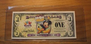 2009 $1. DISNEY DOLLAR   MICKEY  Low Serial # 00002104