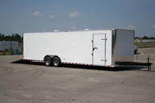 28 10k 8.5x28 Enclosed Cargo Auto Car Hauler 8.5 X 28 RACE READY