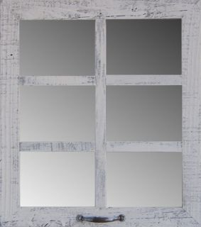 Rustic 6 Pane Barnwood Frame 19x 22 Window Mirror Wall Home