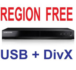 Samsung All Multi Region Code Zone Free PAL NTSC DVD Player DivX USB
