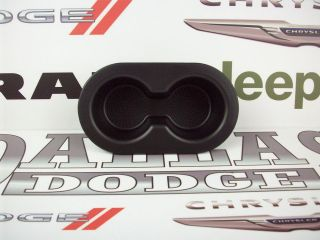 Dodge Ram rear seat cup holder 5HD65DX9AC OEM Mopar black 02 12 drink