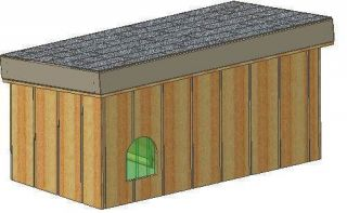 INSULATED DOG HOUSE PLANS, 15 TOTAL, SMALL DOG, STEP BY STEP