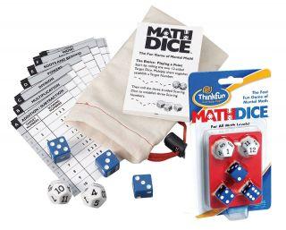MATH DICE Fast Fun Educational Game. Standard & Junior Versions