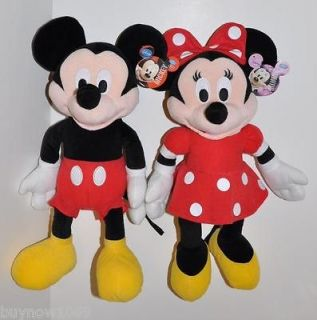 MICKEY MOUSE & MINNIE MOUSE PLUSH DOLL SET 2PC SET 15 DISNEY TOY DOLL