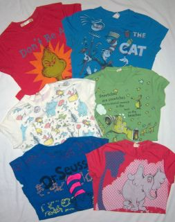 Dr. Seuss 6pc Shirt Lot Juniors Girls Sz L XL Cat In Hat Horton