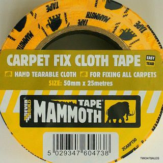 50mm Heavy Duty Double Sided Carpet Adhesive Cloth Tape