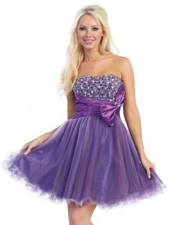 SEXY SHORT PROM HOMECOMING WINTER FORMAL PROM DRESS JEWEL BOW SWEET 16