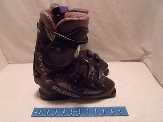 Salomon Optima Purple Ski Boots EXP 9.2 Size 315/24.5 L 288 WORN ONCE