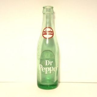 DR PEPPER OLD VINTAGE ACL SODA 6 1/2 OZ OUNCE 10 2 4 BOTTLE GREEN