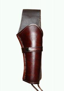 RIGHT Handed Gun Holster DARK BROWN REVOLVER WESTERN COWBOY SMOOTH