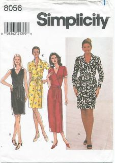 Simplicity 8056 Misses Knit Wrap Dresses Sewing Pattern