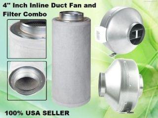 inch INLINE DUCT FAN CARBON FILTER COMBO scrubber inline fan