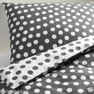 IKEA Gray White Polka Dot Duvet Cover Full Queen Set NEW Stenklover
