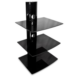 TIER DVD Player Cable Box Wall Mount Shelf Stand Direct TV Glass