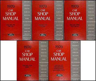 1970 Lincoln Repair Shop Manual Set Town Car Continental and Mark III