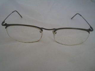 Emporio Armani 1144 Half Rim Glasses Frames Gun metal gray