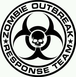 Zombie emergency response team   walking dead apocolypse Decal