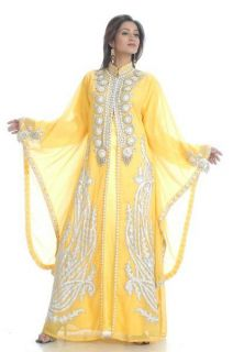 Kaftan Islamic Dress Hand Embrioderd Caftan Abaya Dubai Fashion