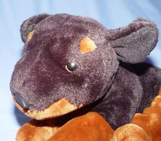 12 ROTTWEILER ANIMAL ALLEY GUC BEANY PLUSH DOG OR DOBERMAN M 18 TOYS R