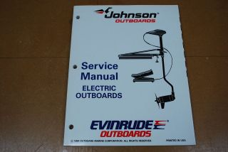 Johnson Evinrude Outboard 1995 Service Manual Electric Trolling Motors