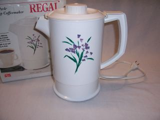 Vintage REGAL POLY PERK 4 10 Cup Electric Percolator Coffee Pot Maker