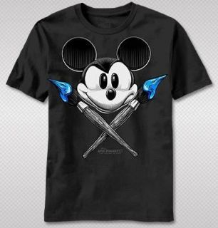Mouse Video Game Vintage Look Cartoon Brush Adult Tshirt top tee