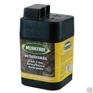 MFH SRB6  Two Moultrie 6 Volt Batteries For Deer Feeders & Hog