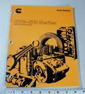 CUMMINS PARTS MANUAL   NTC475 SERIES   BIG CAM II AUTOMOTIVE
