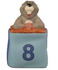 RETIRED Pooh & Friends GOPHER Birthday #8 FIGURINE NIB