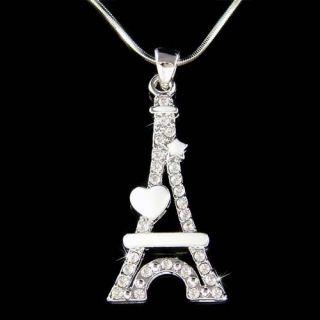 Swarovski Crystal Eiffel Tower Paris France enamel Heart Star