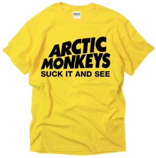 ARCTIC MONKEYS SEE SUCK EMO ROCK MUSIC BAND t shirt