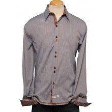 Mens Brown Swindle Beatles ENGLISH LAUNDRY JOHN LENNON Shirt Size L
