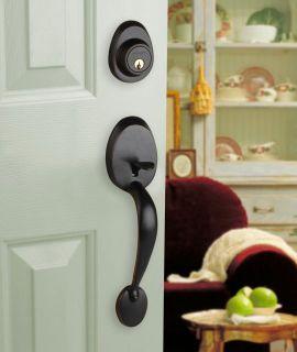 Front Door Entry Set Lock Oil Rubbed Bronze Lever LH